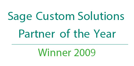 Sage Custom Solutions Partner of the Year 2009