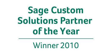 Sage Custom Solutions Partner of the Year 2010