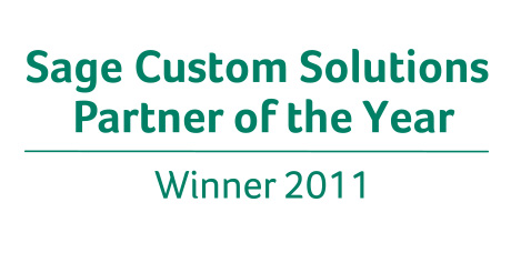 Sage Custom Solutions Partner of the Year 2011