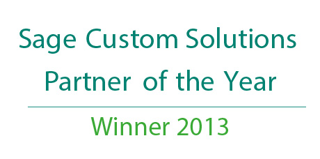 Sage Custom Solutions Partner of the Year 2013