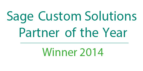Sage Custom Solutions Partner of the Year 2014