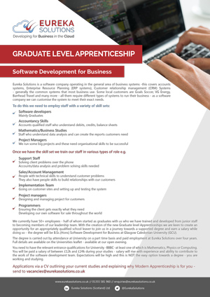 Graduate Level Apprenticeship Software Development for Business