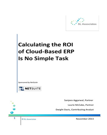 Calculate ROI on Cloud Based ERP