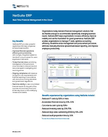 NetSuite ERP Flyer