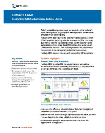 Customer Service Management Datasheet