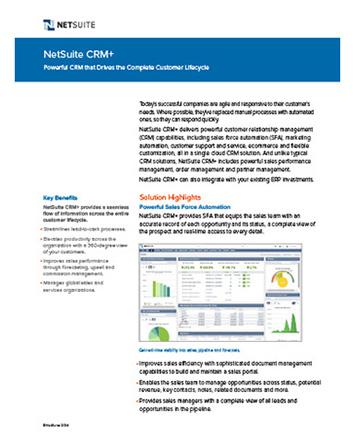 NetSuite CRM+ Flyer