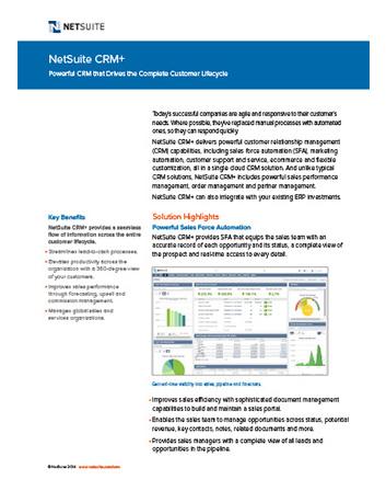 Sales Force Automation Datasheet