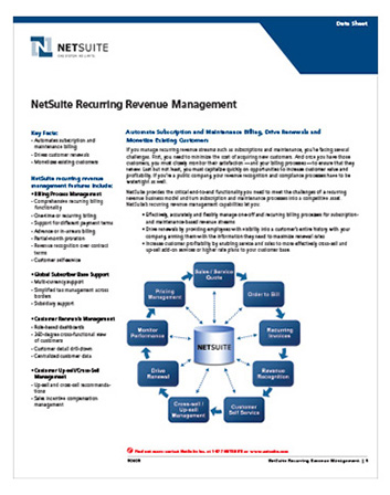 Recurring Revenue Management