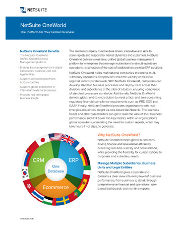 Global Platform Datasheet