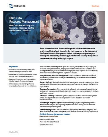 Resource Management Datasheet