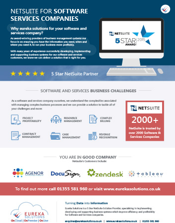 NetSuite for Software Services Flyer