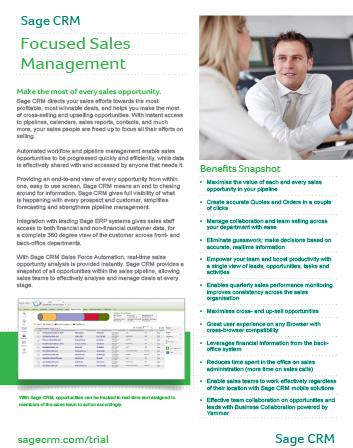 Sales Datasheet