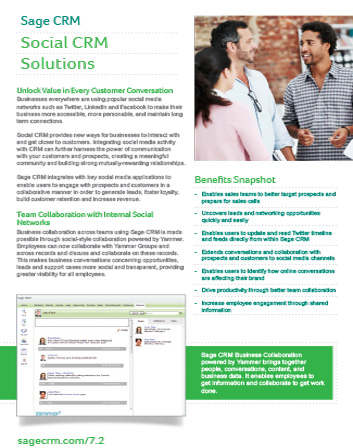 Social CRM Solutions Datasheet