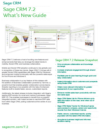 Sage CRM 7.2 – What's New?