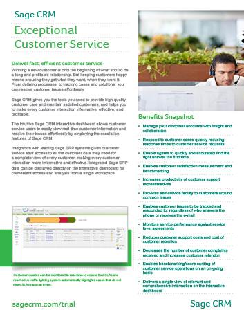 Customer Service Datasheet