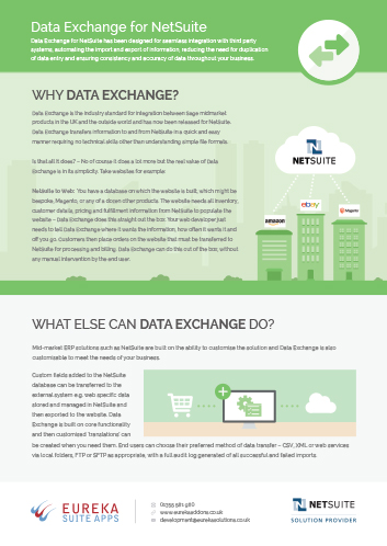 Data Exchange Flyer