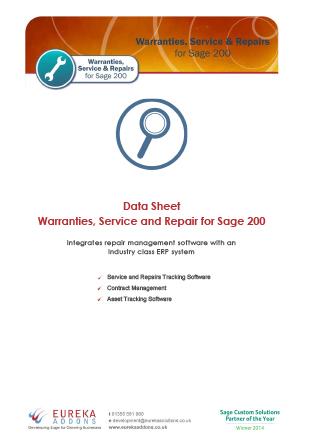 WSR Data Sheet