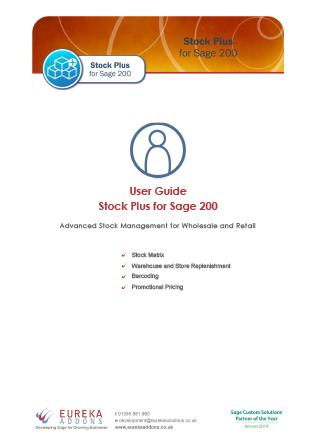 Stock Plus User Guide