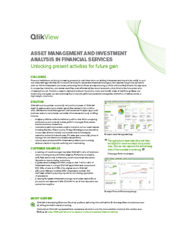 QlikView for Asset Management and Investment Analysis
