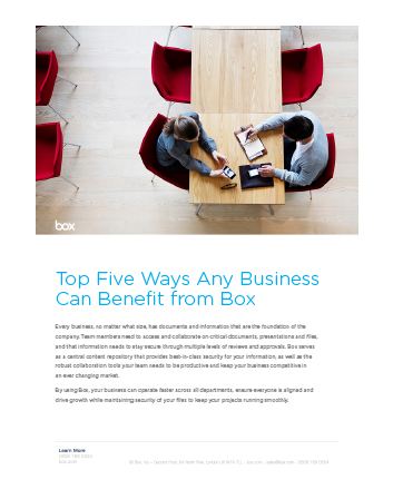 Top 5 Ways Businesses Benefit from Box