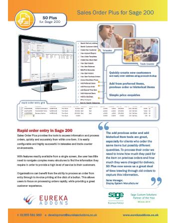 Sales Order Plus Flyer
