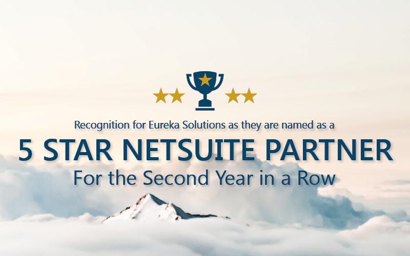 Second 5 Star NetSuite Partner Award for Eureka Solutions