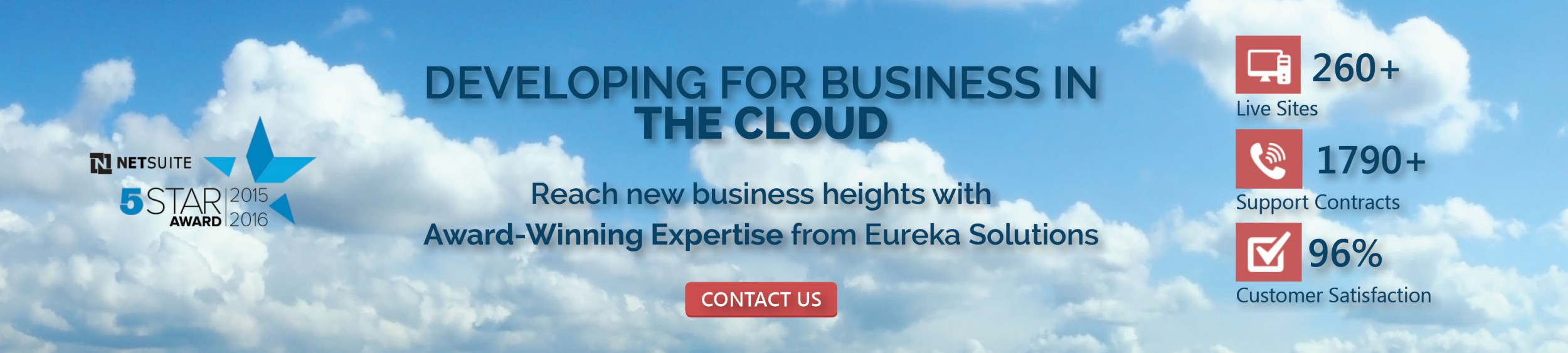 Eureka Solutions Homepage Banner Banner Developing In Cloud