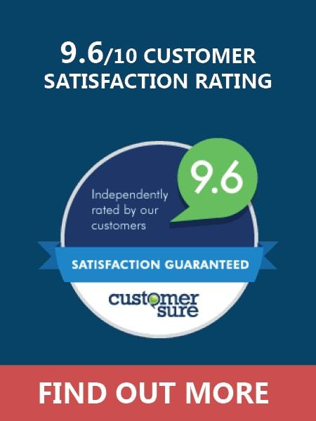 Eureka Solutions 9.6/10 Customer Satisfaction Rating