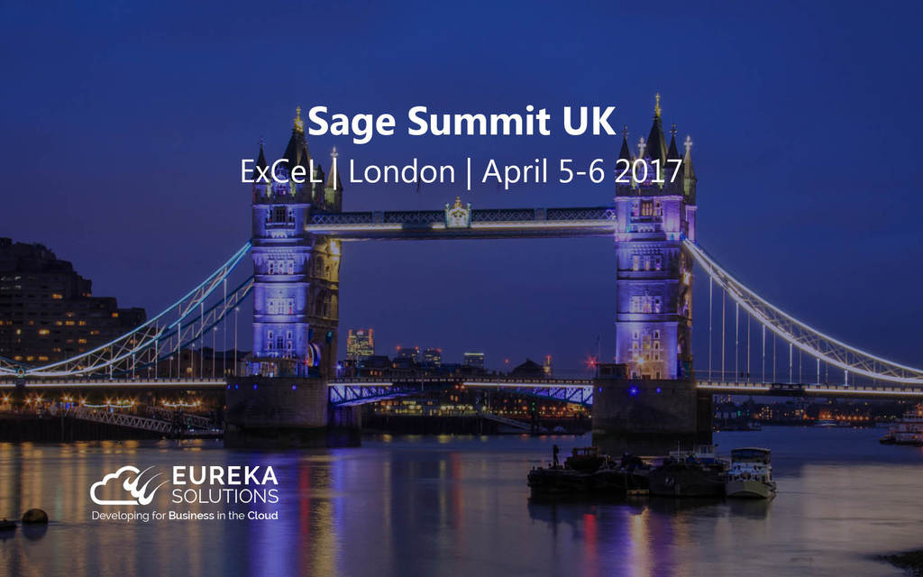 Eureka Solutions Sponsor Sage Summit UK 2017