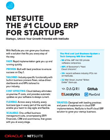 NetSuite – No.1 ERP for Startups