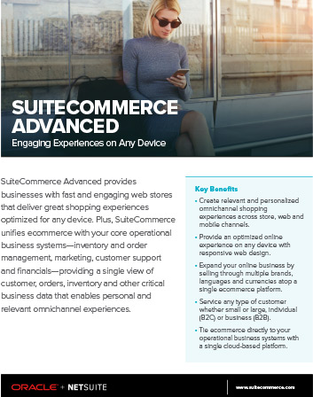 SuiteCommerce Advanced Flyer