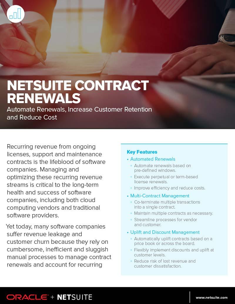 NetSuite Contract Renewals Data Sheet