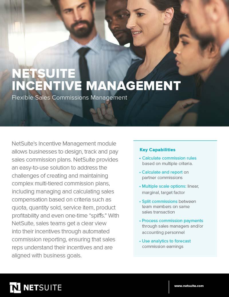 NetSuite Incentive Management Datasheet