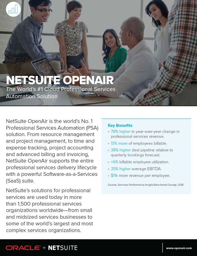 NetSuite OpenAir Datasheet - NetSuite OpenAir Functionality