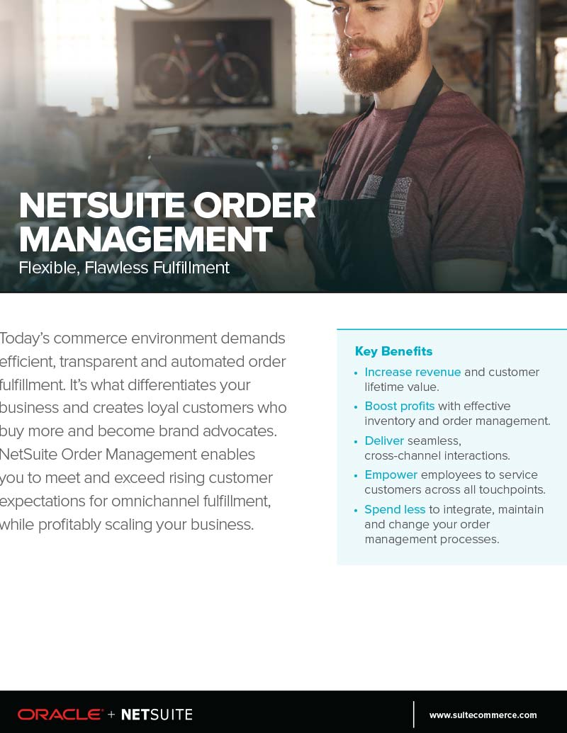 NetSuite ERP Order Management Flyer