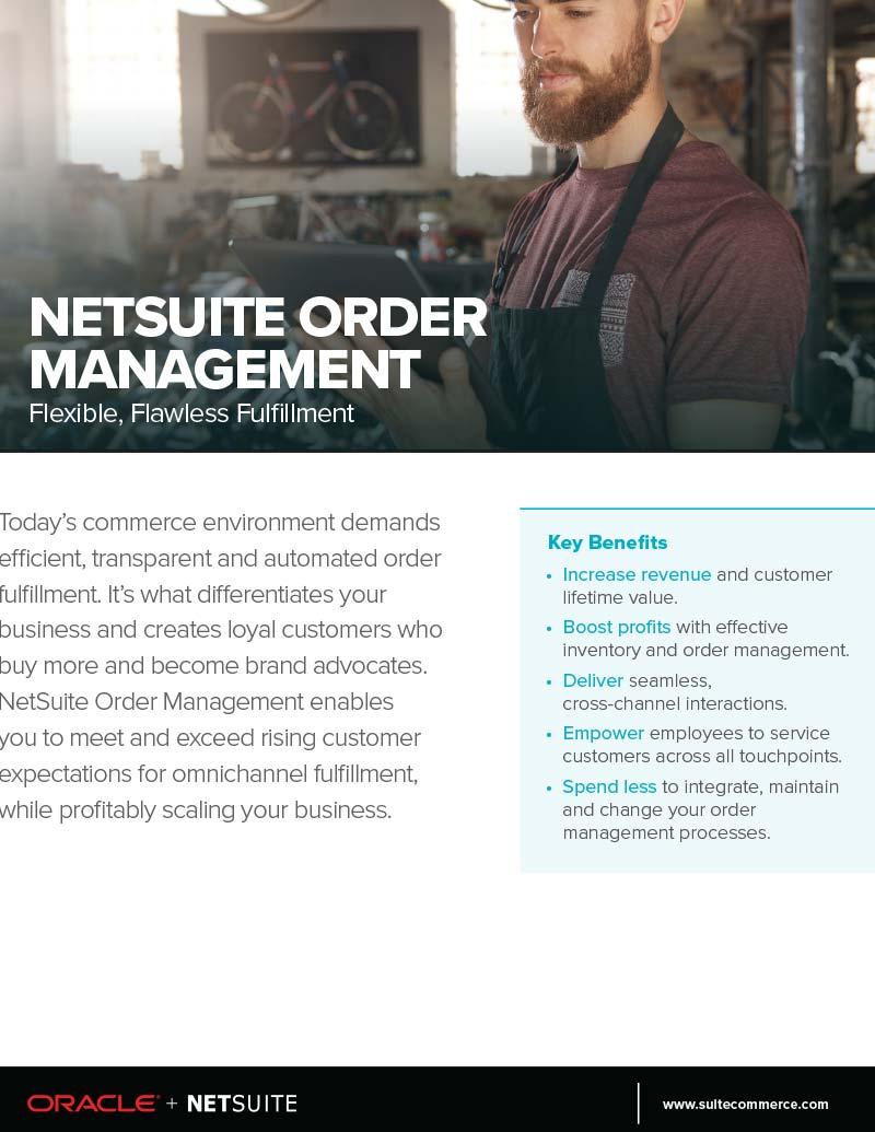 NetSuite ERP Order Management Flyer