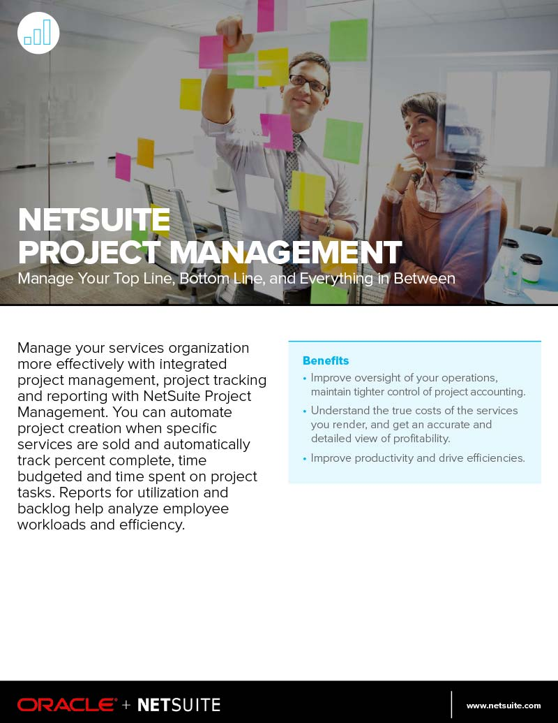 NetSuite Project Management Datasheet