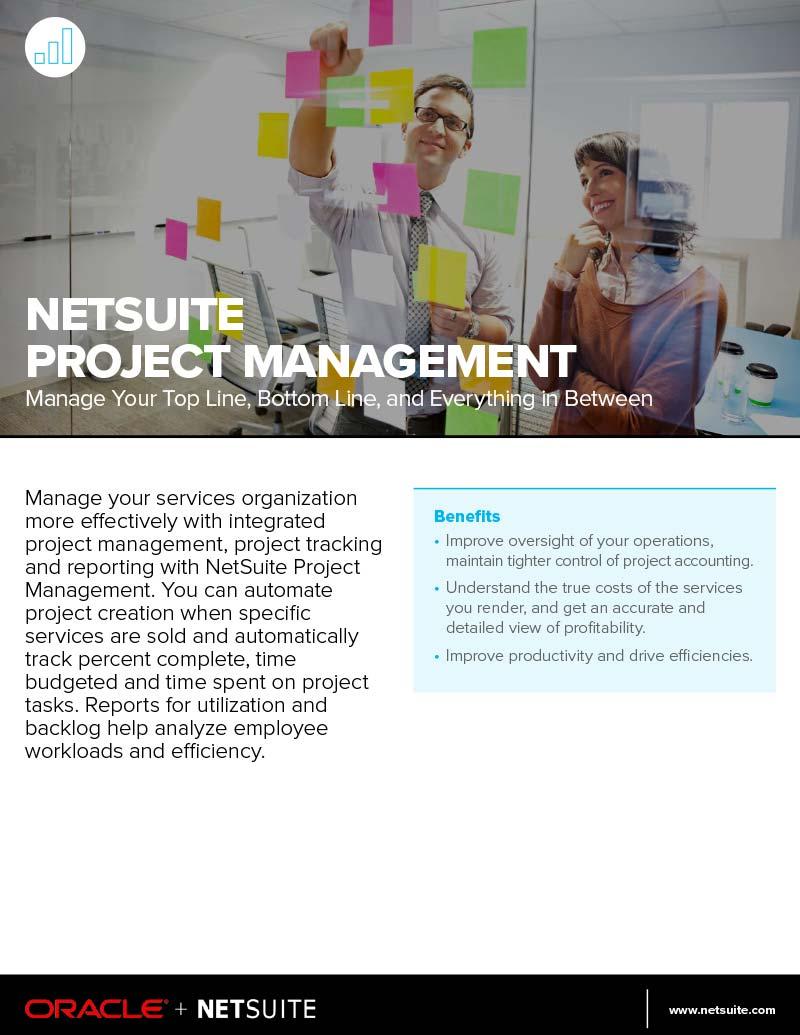 NetSuite Project Management Datasheet