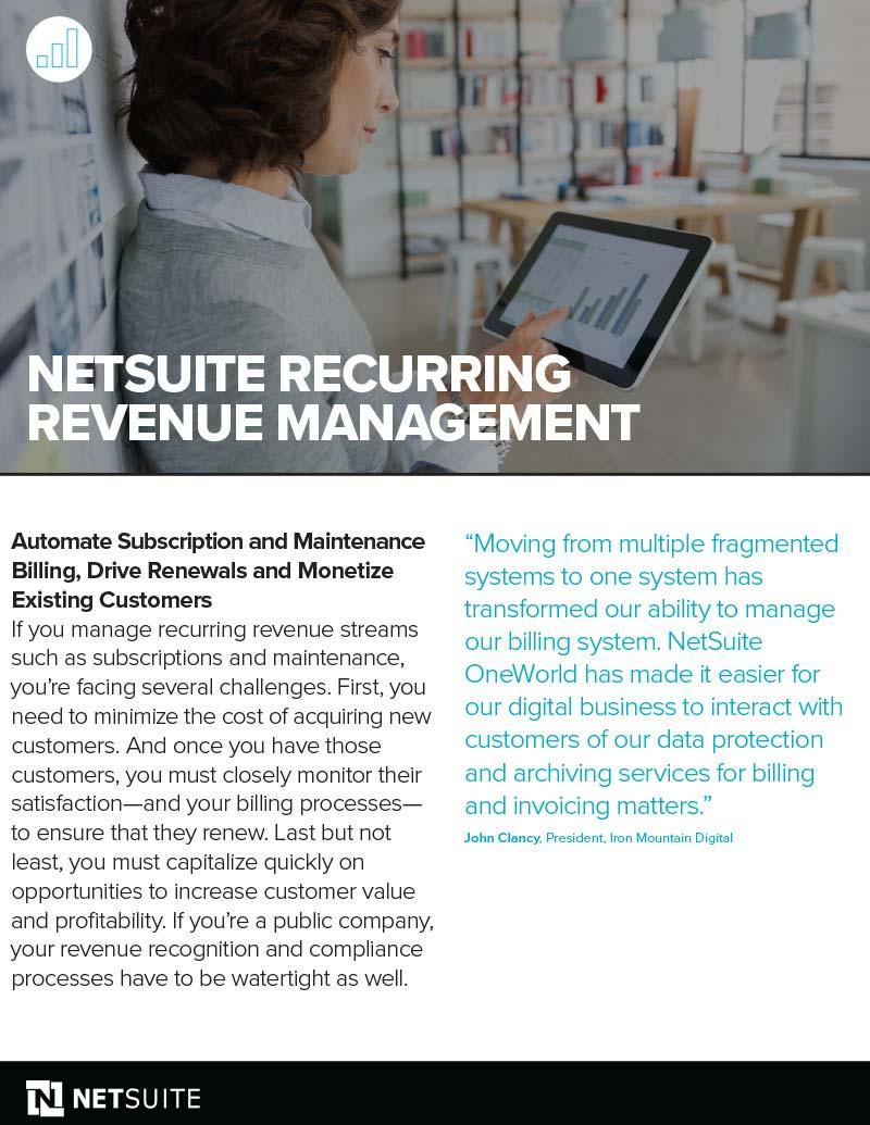 NetSuite Recurring Revenue Management Datasheet