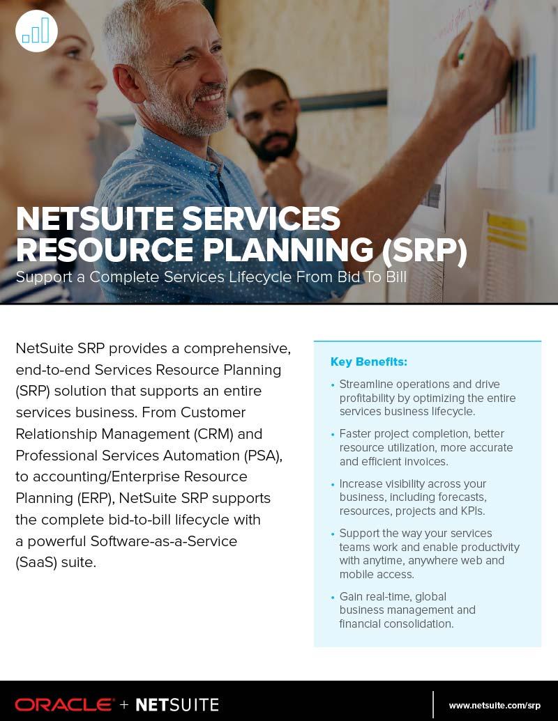 NetSuite SRP Datasheet Service Resource Planning Software