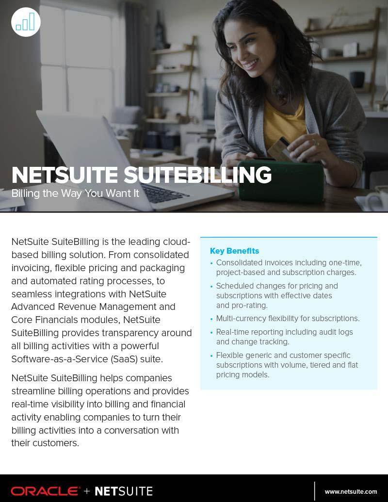 NetSuite SuiteBilling Datasheet