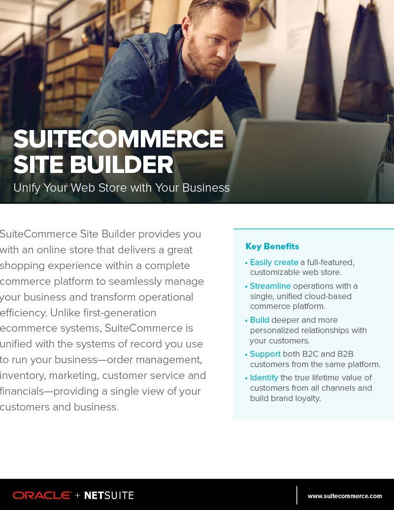 NetSuite SuiteCommerce Advanced Site Builder Flyer