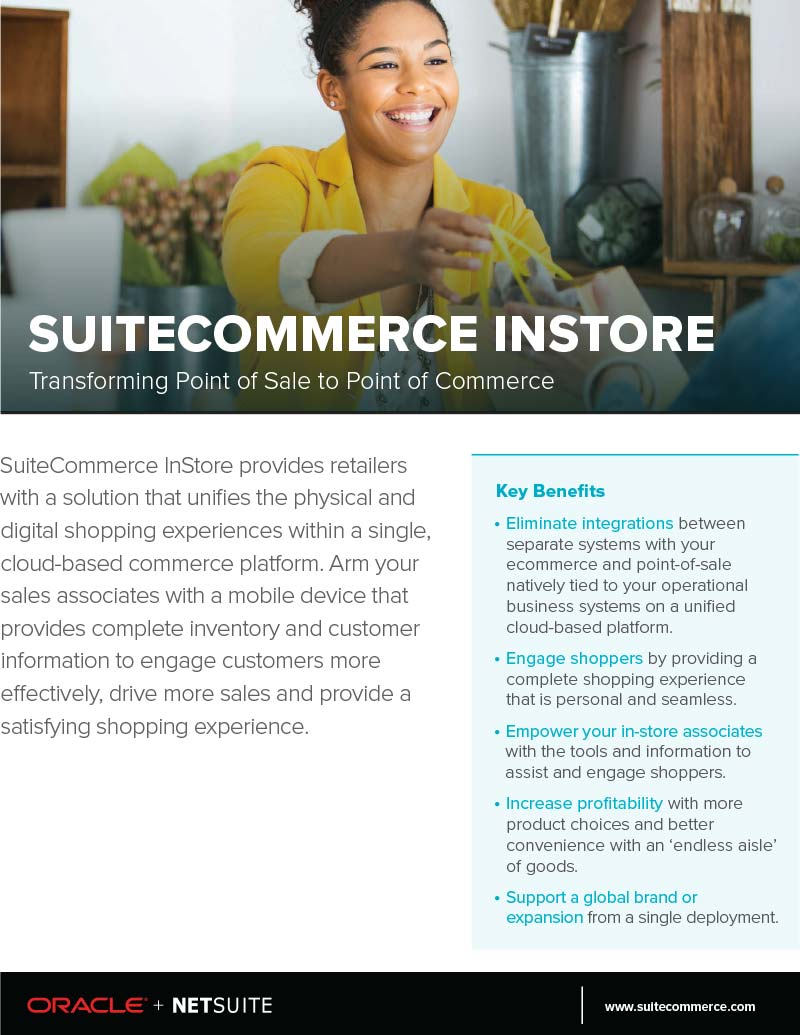 NetSuite SuiteCommerce Instore Flyer - Point of Sale NetSuite