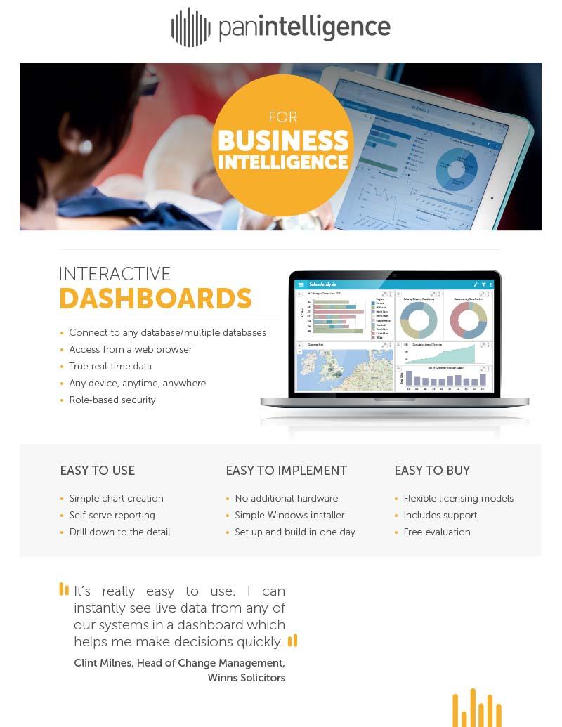 Panintelligence Business Intelligence Software for Sage