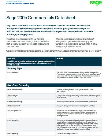 Sage 200c Comercials