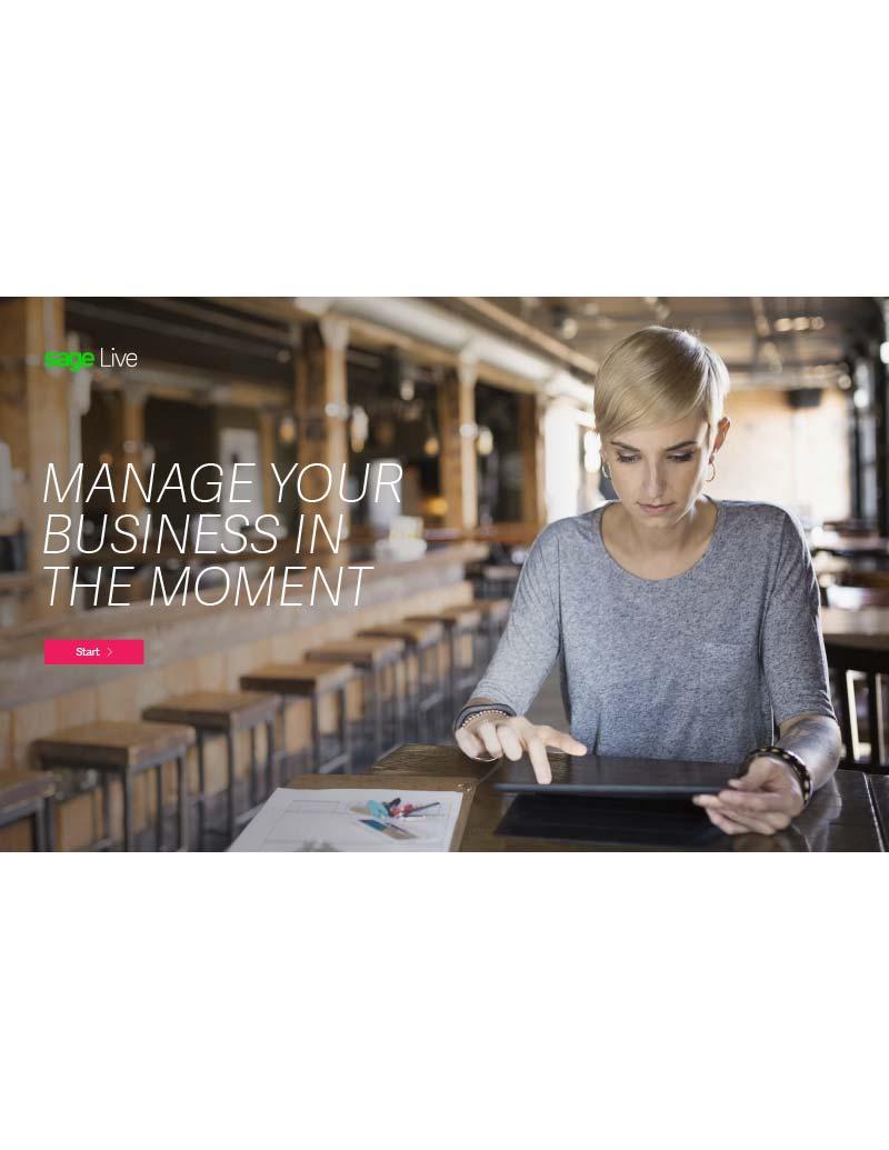 Sage Live Product Brochure UK Sage Financials