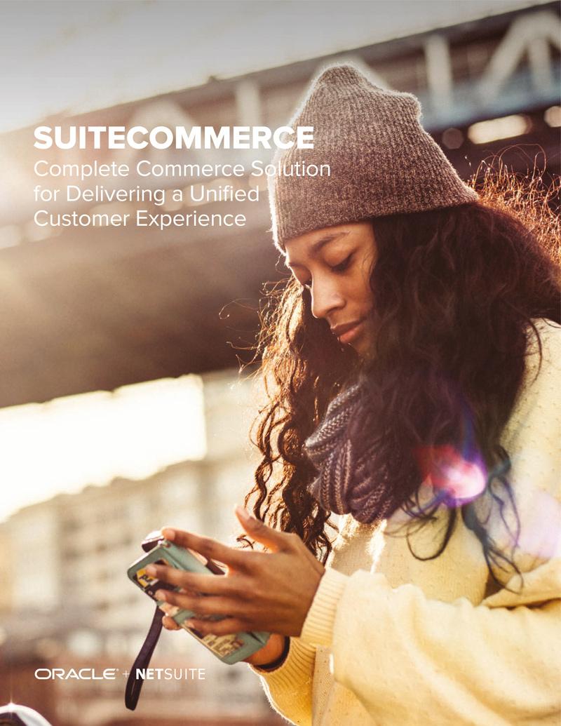 NetSuite SuiteCommerce Advanced Ecommerce Omnichannel Software