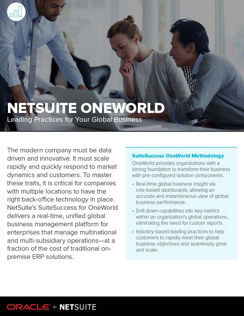 NetSuite OneWorld Datasheet